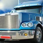 Ameriman truck. Vivid under sunlight.