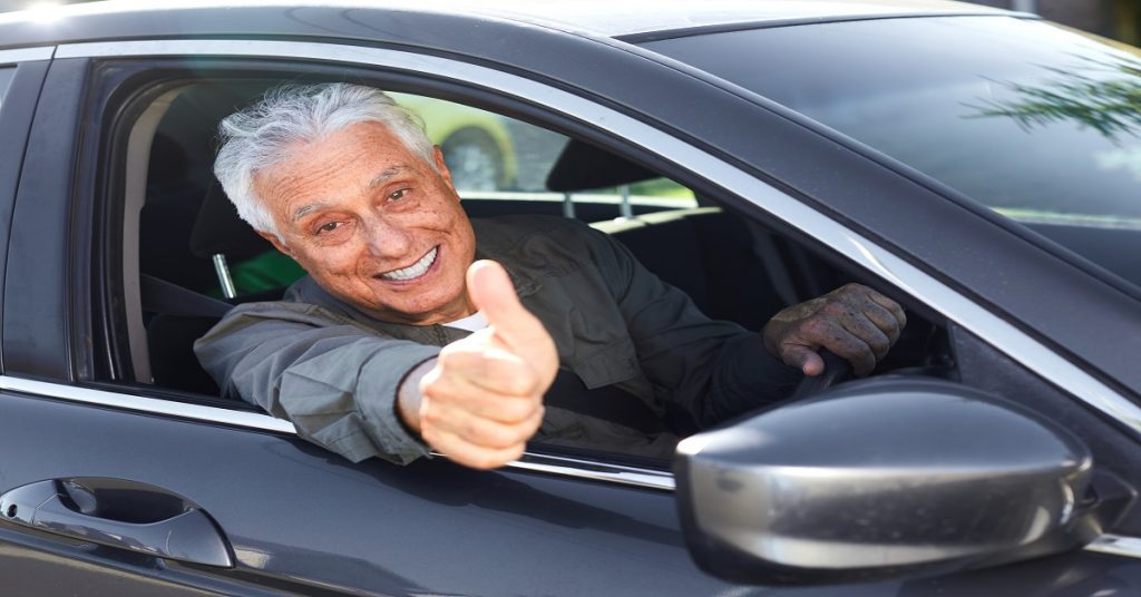 Older car driver lost his license