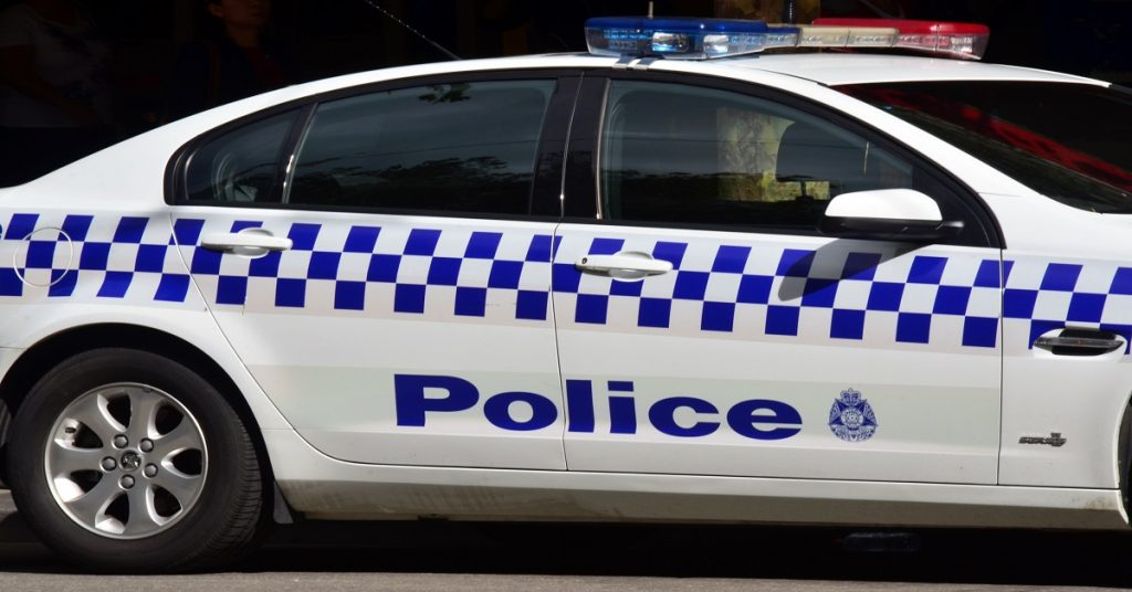 MELBOURNE, AUS - APR 14 2014:Victoria Police car.As of 2013, Victoria Police has over 12,539 sworn members across 325 police stations.It has a running cost of aprox. 2.1b $AUD (A$372 per resident).
